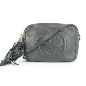Gucci Fringe Tassel Black Disco Soho Crossbody